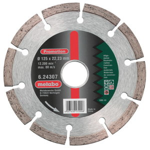 Deimantinis  pjovimo diskas 115x22,23 mm, Metabo