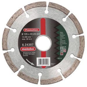 Алмазный режущий диск 125 x 22,23 мм, METABO