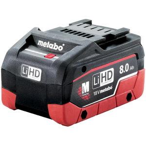 Akumuliatorius 18 V 8,0 Ah LiHD, Metabo