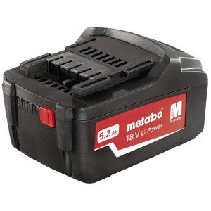Аккумулятор 18 В/5,2 А-ч Li-Power Extreme, METABO