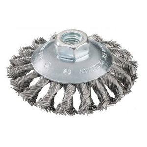 Wire wheel brush 115mm, M14, steel, 0,5mm, Metabo
