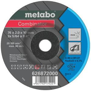 Metalo pjovimo ir šlifavimo diskas 76x2,5/10 combinator 3pcs, Metabo