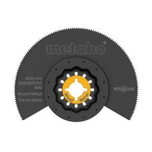 Multitööriistatera 85 mm, BiM, puidule ja metallile, Metabo
