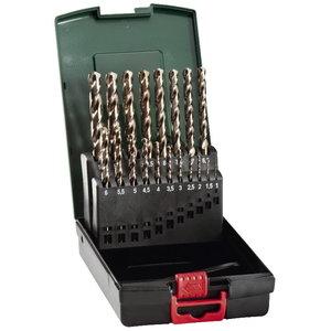 Metal drill bit HSS-Co, 19 pcs, 1-10mm, Metabo