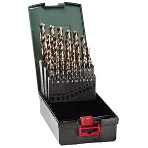 Metallipuuride kmpl 25  Pack , 1-13 мм HSS-CO, METABO