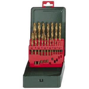 Metāla urbju koplekts 1-10mm HSS-TIN 19 gab., Metabo