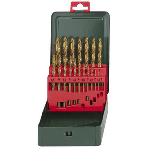 HSS-TIN twist drills (19 pcs.), 1-10mm, Metabo