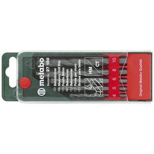 Masonry drill bit set 5 pcs. 4, 5, 6, 8, 10 mm, Metabo
