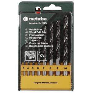 Puidupuuride komplekt, 8 osaline, 3-10 mm, Metabo