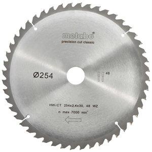 Pjovimo diskas 254x2,4/1,8x30mm, z48, WZ, -5°, Classic, Metabo