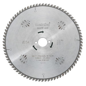 Saw blade 216x2,4/1,6x30, z64, FZ/TZ, 10°. Multi cut, Metabo