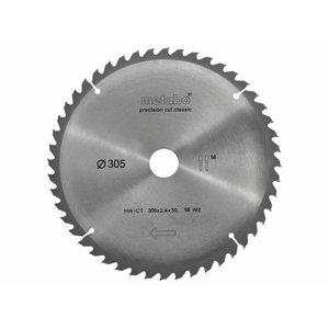 Pjovimo diskas 305x2,4/1,6x30mm, z56, WZ, -5°. Classic, Metabo