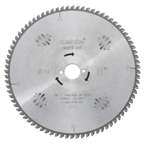 Circular saw blade 190x2,2/1,4x30, z56, FZ/TZ, 8°, Multi Cut KS 66 / KSE 68, Metabo