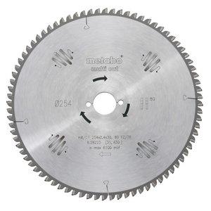 Diskas pjovimo 250x2,8/1,8x30, z80, 10°, WZ, Multi Cut, Metabo