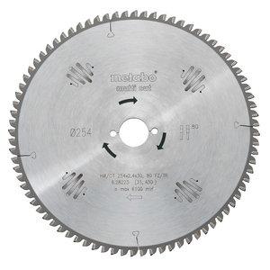 Ripzāģa asmens 254x2,4/1,6x30, z80, TZ, 5°. Multi cut. TS 254, Metabo