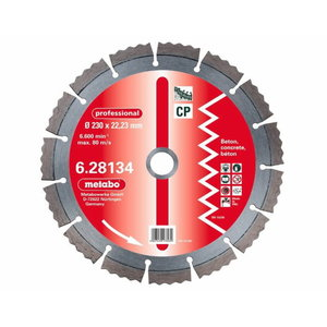 Deimantinis  pjovimo diskas   230x22,23 mm, prof., CP - 2vnt, Metabo