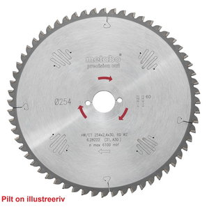 пильный диск  HW/CT 254 синяя30, 48 WZ 5°n, METABO