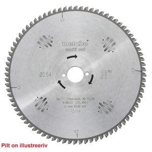 Zāģa asmens 254x2,4/1,8x30, z80, FZ/TZ, -5°, Multi Cut., Metabo
