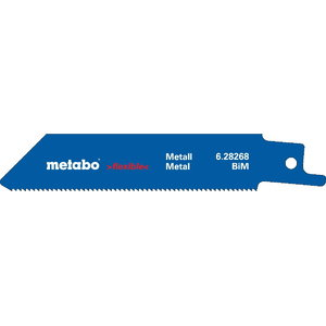 Sabre saw blades,  metal 0,9x100 mm, BiM - 5pc. Professional, Metabo