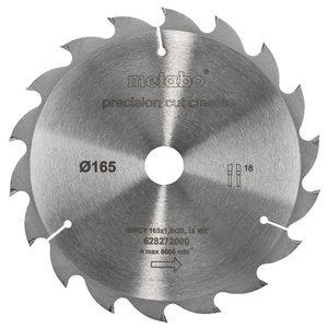 Pjovimo diskas 165x1,8/1,2x20mm, z18, WZ, 20°, Classic., Metabo
