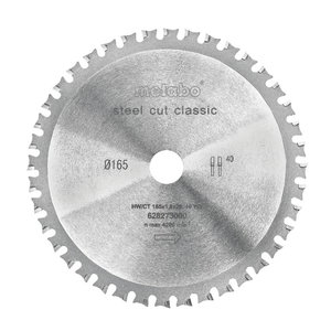 Zāģripa metālam 165x20 Z40 WZ 4° MKS 18 LTX 57, Metabo