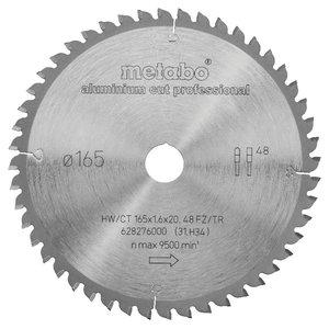 Sawblade 165x20 Z48 FZ/TR -5° AluminiumCutProf f MKS18 LTX57, Metabo