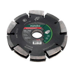 Dimanta griezējdisks Dia-CD2, 125x18x22.23 mm UP, MFE 40, Metabo
