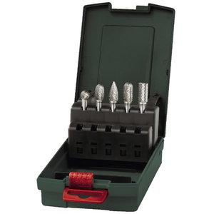 Carbide cutter set for die grinder, 5 pcs., Metabo