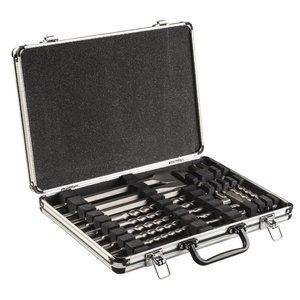 SDS-plus chisel / drill set, 17 pcs, aluminium case, Metabo