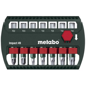 Bit-assortment Impact 7 pcs. 49 mm, Metabo