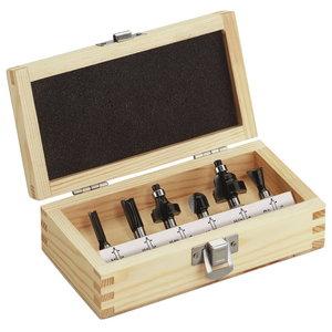 Wood milling cutter 6-part kit, Metabo
