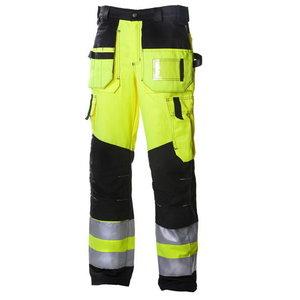 Kõrgnähtavad püksid  631 kollane/must 64, Dimex