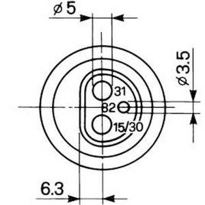 Pistik 3 pins 01143530, 1-40-171-022, 1533899, 1533899C1, Bepco