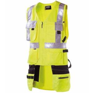 High vis vest  pockets    6320, yellow, Dimex