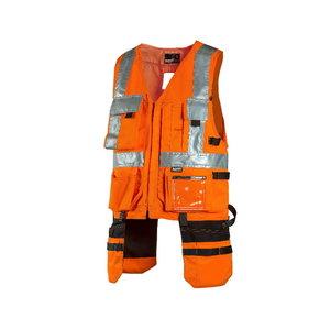 High vis vest  pockets 6320R, orange, Dimex
