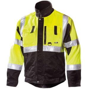 Augstas redzamības darba jaka  6330, dzeltena/melna L, Dimex