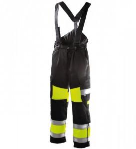 Talve traksipüksid 6360 kõrgnähtav CL1, kollane/must, Dimex
