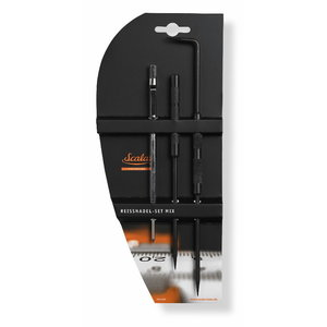 Steel scriber set 175 mm CV-steel with 1 needle, 240 mm CV, Scala
