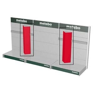 Stendi kolmnurkne lisa, 1,6m, punane - 2tk, Metabo