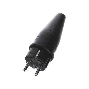 Šakutė elektros lizdui SCH gumuota 220V