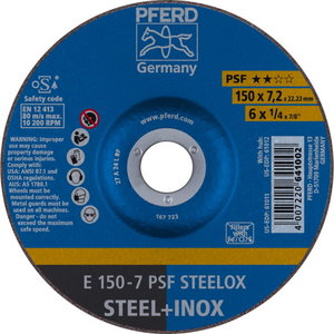 Slīpdisks 150x7,2mm PSF STEELOX, Pferd
