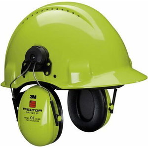 Austiņas, PELTOR OPTIME I, HiViz, ķiveres stipr., SNR: 26 dB XA007702187, 3M