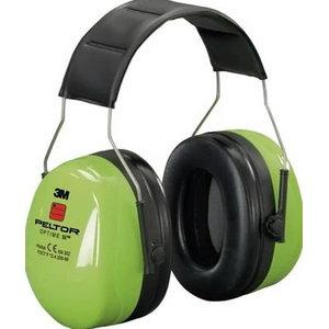 Aizsargaustiņas OPTIME IIl, SNR 35 dB, Hi-Viz XA007702286, 3M