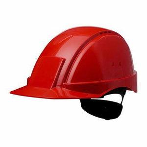 Kaitsekiiver Uvicator, nupust reguleeritav, punane, 3M