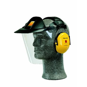 Kaukė apsauginė Industry V40F su Optime I ausinėmis XH001650312, 3M