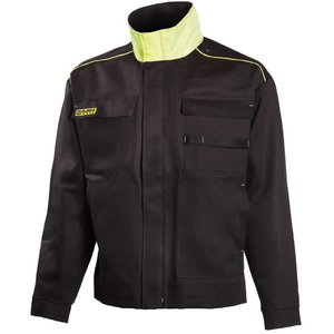 Куртка для сварщиков Dimex 644, чёрная/жёлтая, размер S, DIMEX