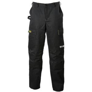 Штаны для сварщиков  645, чёрные/жёлтые, 50 размер, DIMEX