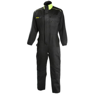 Overall for welders  646 black/yellow XL, , Dimex