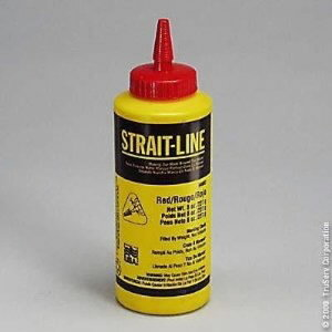 STRAIT-LINE, Chalk, 227 g/red, Irwin