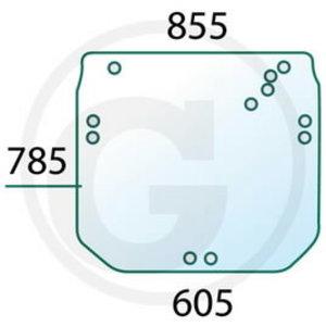 Tagaklaas R206835, SU27312, Granit